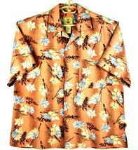Joe Marlin Mens Hawaiian Style Shirt Button Up - Salmon - Size Large - E... - $18.33