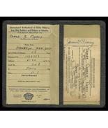 Military WWII Registration Certificate Union ID Card James G. Piercy Gen... - $14.99