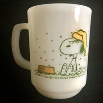 Fire King Snoopy Peanuts Mug I Hate It When It Snow On My French Toast W... - $19.75
