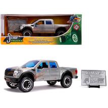 2011 Ford F-150 SVT Raptor Pickup Truck Raw Metal with Blue Stripes (Dir... - $41.87