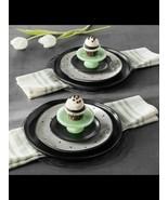 New Hearth & Hand Magnolia Green Milkglass Cupcake Stands Set of 2 Joann... - $12.60