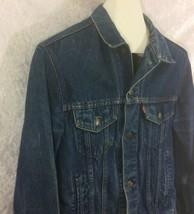 Vtg Levis Denim Trucker Jacket Chore Work Farmer Cowboy Red Tab Size 40 - $49.49