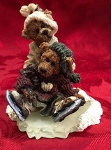 Vintage Boyds Bears & Friends 1995 Figurine Bears with Ice Skates and Clothing - $14.96