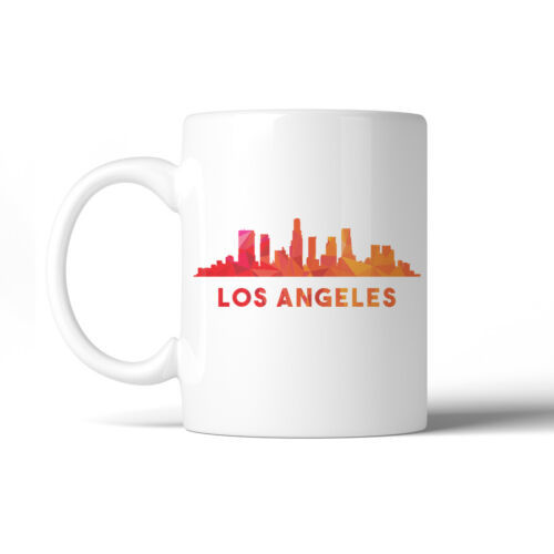365 Printing Polygon Skyline Multicolor Downtown White Mug