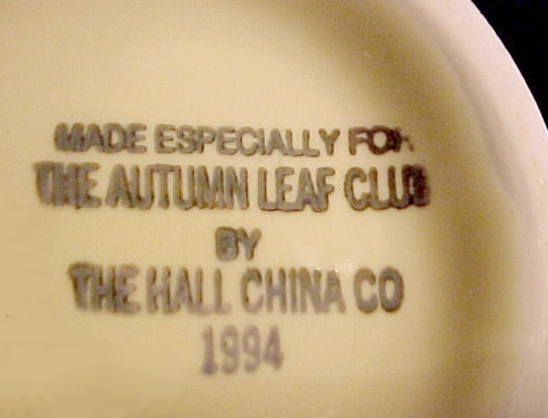 Hall China Autumn Leaf 1994 NALCC Bud Vase Jewel T Tea