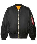 Alpha Industries Men's MA-1 Flight Jacket, Black, Small - $123.55