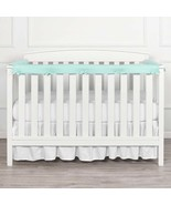 TILLYOU 3-Piece Baby Crib Rail Protector Chewing Safe Teething Guard Aqua - $14.45