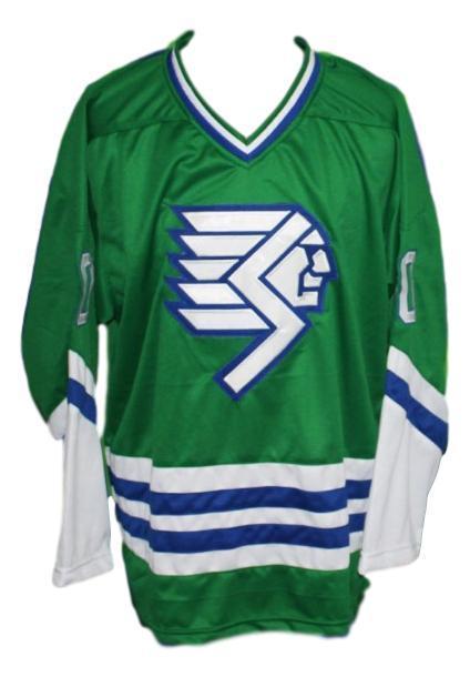 Custom   springfield indians retro hockey jersey green   1