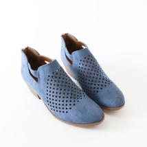 chopt blue faux suede alexia boots booties - $24.99