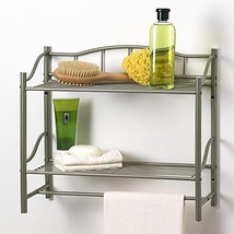 Creative Bath Products Complete Collection 2 Shelf Wall Organizer with T... - $28.94