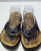 Flops Leather Navy On Slip 10 Size Women's Sandals Flip Blue Børn Thong TAfzqC5