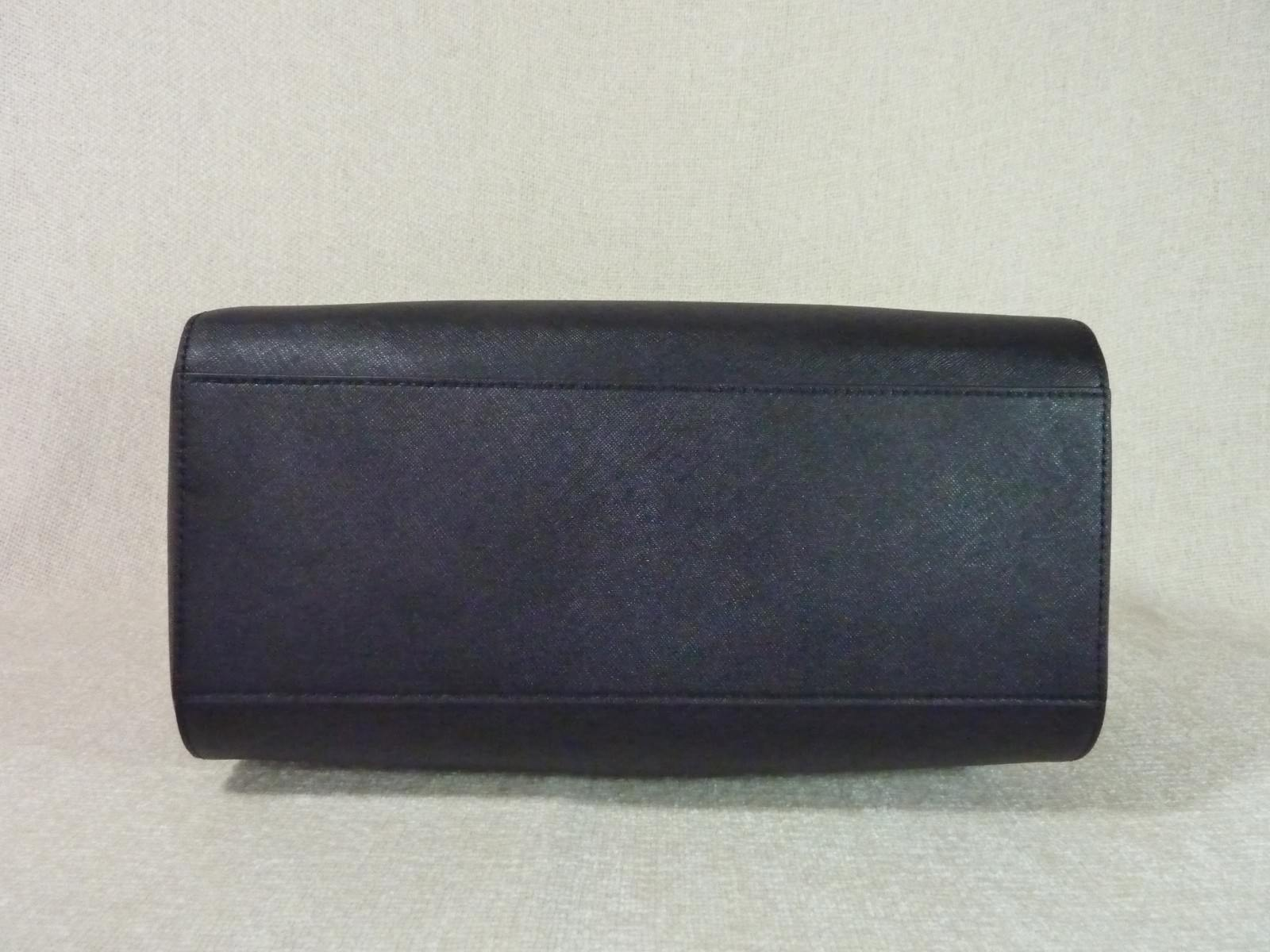 NWT Tory Burch Black Saffiano Leather Classic Emerson Satchel $575