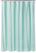 "Shower Curtain Embroidered Stripe Aqua Threshold 72"" x72"" Nwop - $19.79"