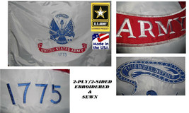 USA MADE HEAVY DUTY 3x5 US ARMY EMBROIDERED&SEWN 600D 2PLY/SIDED FLAG BA... - $47.99