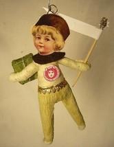 Vintage Inspired Spun Cotton Christmas Boy Ornament #10 Very Cute!5 image 2