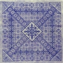 Northern Expressions Needleworks NEN040 - Shades of Indigo Chart - $16.32