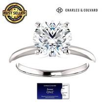1.00 Carat Moissanite Ring in 14k Gold (Charles&Colvard) - $279.00
