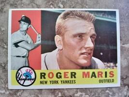 1960 Topps Roger Maris New York Yankees #377 Baseball Card - $74.25