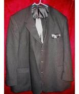 Europa Uomo Black Wool Suit Pants Jacket Tie Sz 50 Big & Tall - $75.50