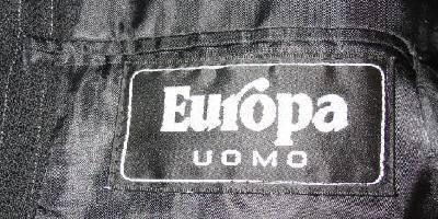 Europa Uomo Black Wool Suit Pants Jacket Tie Sz 50 Big & Tall