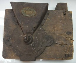 antique KING PATENT COFFEE MILL grinder CAST IRON mnt folk art SQUARE NA... - $124.95