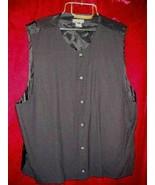 Mens Enrico Capucci Black Wool  Vest Button XL - $19.99