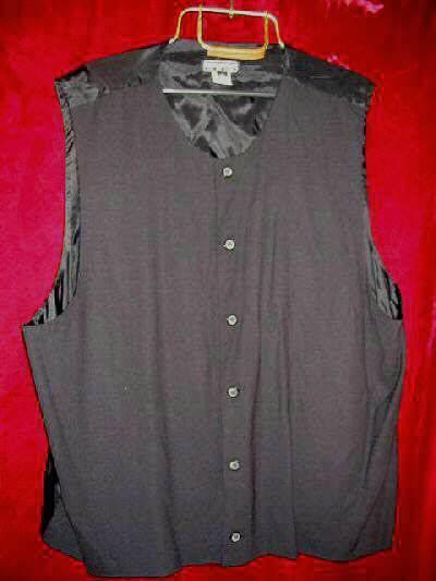 Mens Enrico Capucci Black Wool  Vest Button XL