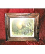 Vintage Framed  Rope Accent Andres Orpinas Signed Print  Drawing Forest - $29.99