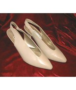 Vintage Tan Jasmin Leather Shoes Pump Heels 8.5 - $14.85