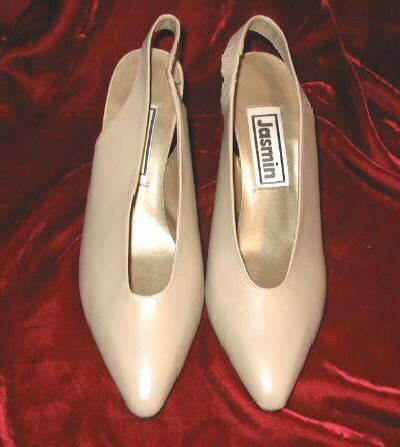 Vintage Tan Jasmin Leather Shoes Pump Heels 8.5