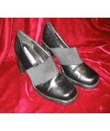 Womens Black Classified Vinyl Shoes Pumps Heels Size 6.5 - $13.75