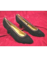 Womens Nina Black Velvet Shoes Pumps Heels 8 M - $14.99
