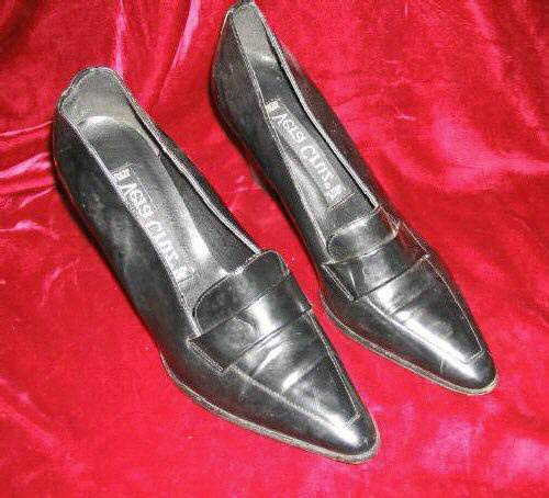 Women's Vera Cruz Black Leather Shoes Pump 8 M Spain