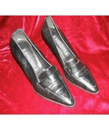 Women's Vera Cruz Black Leather Shoes Pump 8 M Spain - $13.50