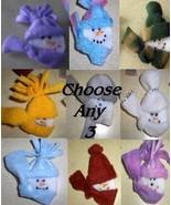 Christmas Snowman/Snowgirl Pins Adorable Handmade Choose any 3 - $7.00