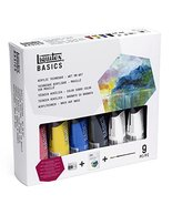 Liquitex Acrylic Basic set, Technique Set , Wet on wet, 9 pieces. 3699304 - $29.69