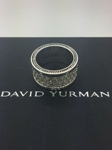 David Yurman 925 3-Row Grays Sappfire Ring Size 9 - $554.28