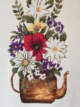 HANDEMBROIDERED TAPESTRY From Denmark 1950s  Traditional  Mid Century Decor - £31.36 GBP