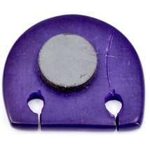 Hand Carved Soapstone Purple Simple Floral Elephant Fridge Magnet Made Kenya image 2