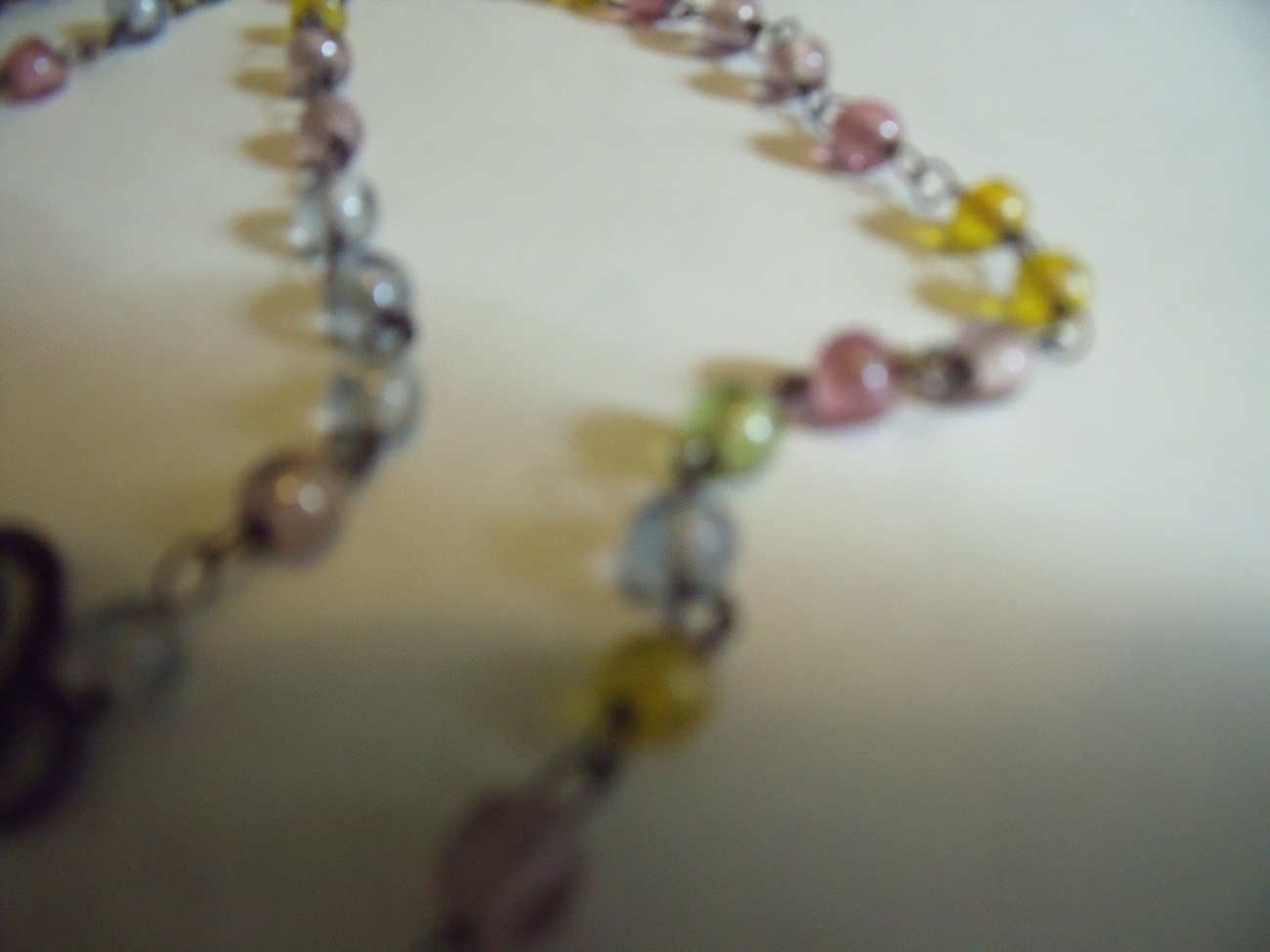 Dainty Pastel Beads on Chain
