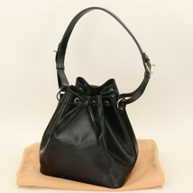 Auth LOUIS VUITTON Black Epi Petit Noe Shoulder Tote Bag VERY GOOD #01P035  - £521.37 GBP