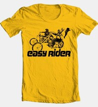 Easy Rider T-shirt retro classic 1970's movie 100% cotton graphic film gold tee image 2