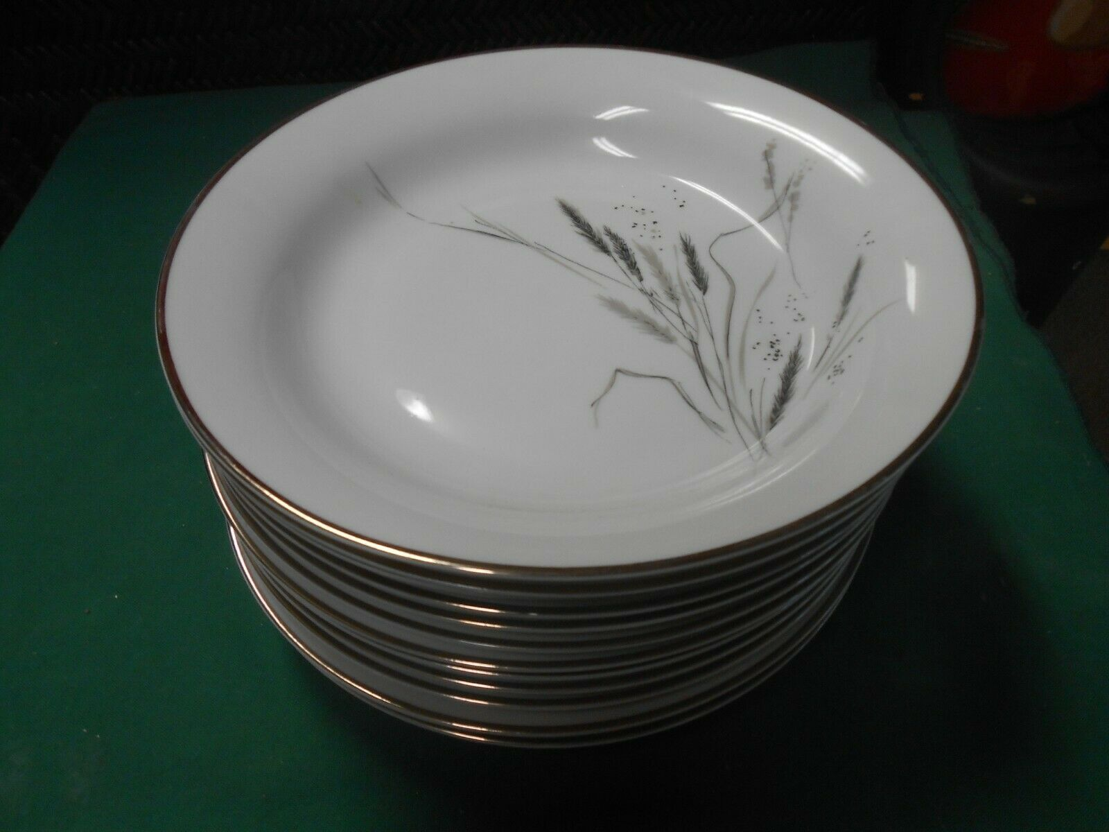 "Primary image for Magnificent ROSENTHAL Selb-Plossberg Bavaria Germany Ceres ""Wheat"" 12 SOUP BOWLS"