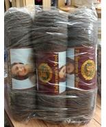 Lion Brand Yarn Fishermen's Wool 3 Skeins  Brown Heather 8 oz Virgin Wool - $37.82