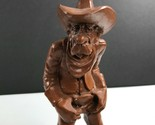 "Vintage Wetherbee Jr. #231 Old Cowboy Statue 10.5"" Figurine Red Mill MFG. 1986"