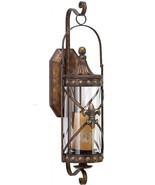 Rustic Wall Mount Candle Scone Metal Candle Sconce,Textured Bronze Finish - $81.95