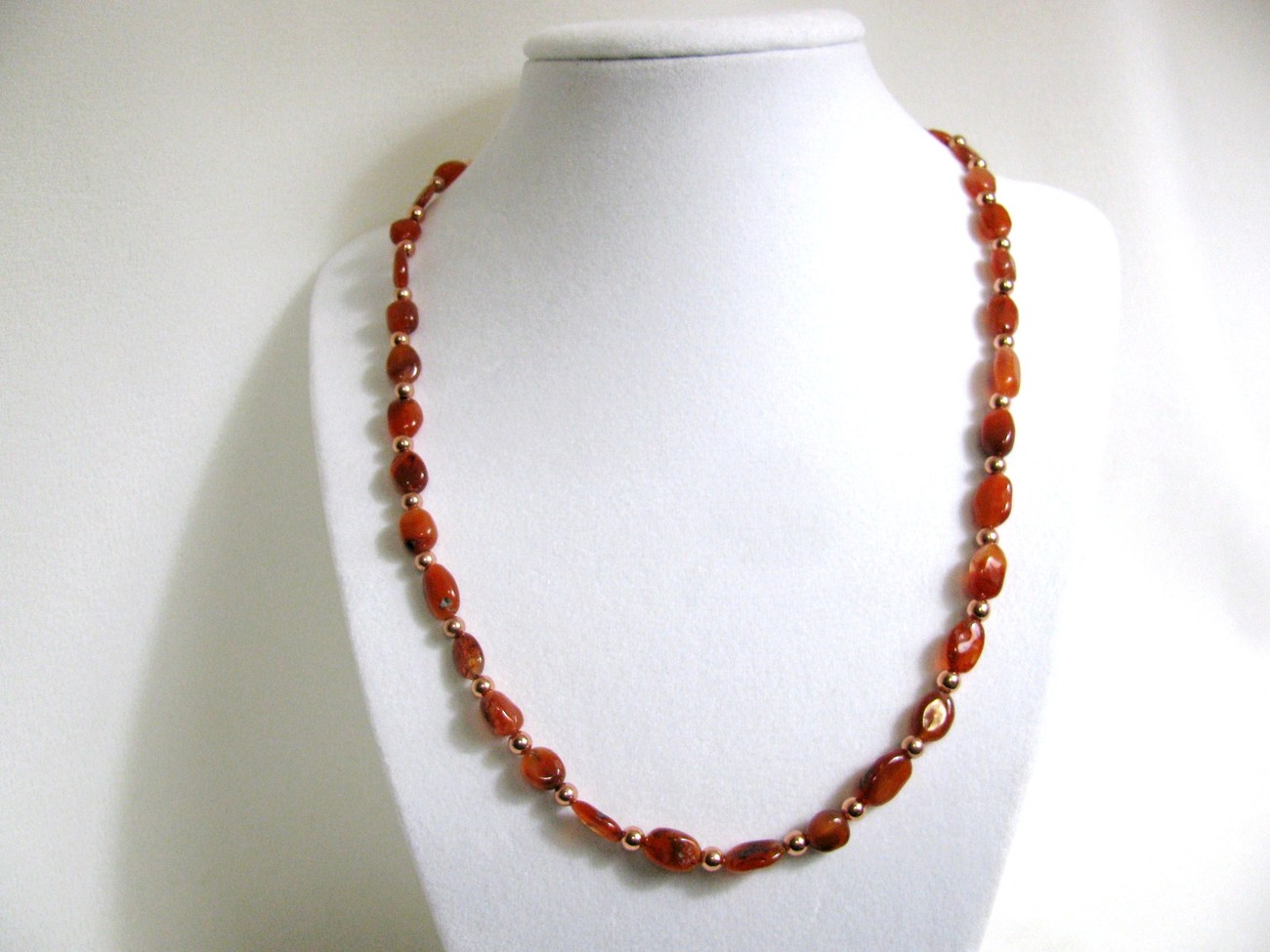 Carnelian and Copper Necklace RKM304 RKMixables Copper Collection