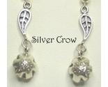 3237 sterling sliver leaf w bell earrings thumb155 crop