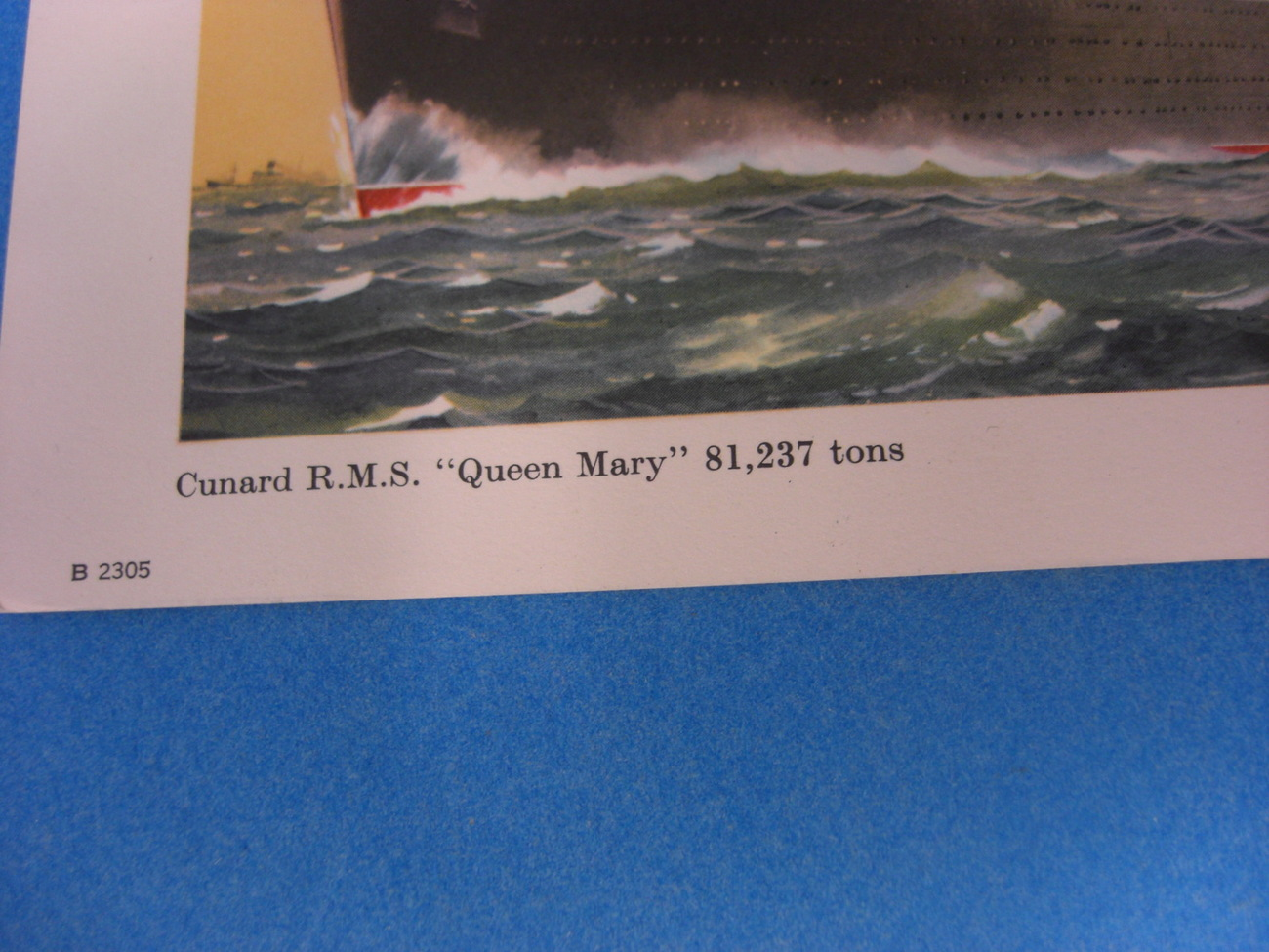 Cunard Queen Mary Vintage Card Never Used In Excellent Condition