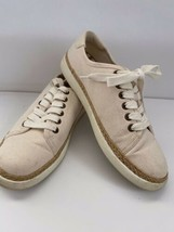 Vionic Womens Sunny Hattie Sneakers Shoes Ivory Round Toe Size 7.5 - $37.00